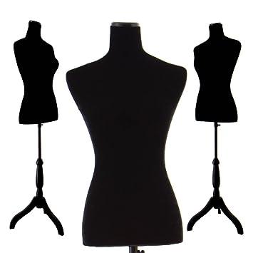 Amazon.com: Black Female Velour-Like fabric Mannequin Dress Form ...