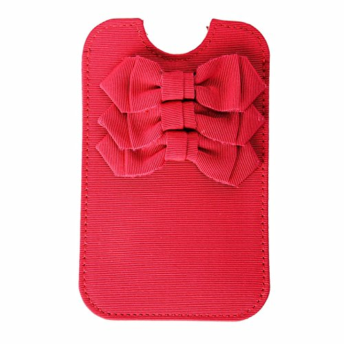 Red Valentino Women's Bow Decorated Red Pouch Iphone Case 5, 5S Womens Valentino Bow