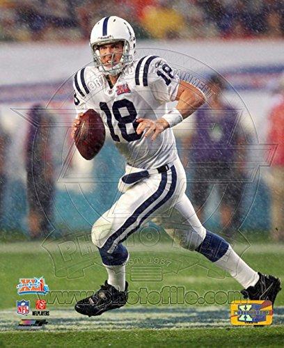 Peyton Manning SuperBowl XLI Action (#3) Photo 20 x 16in