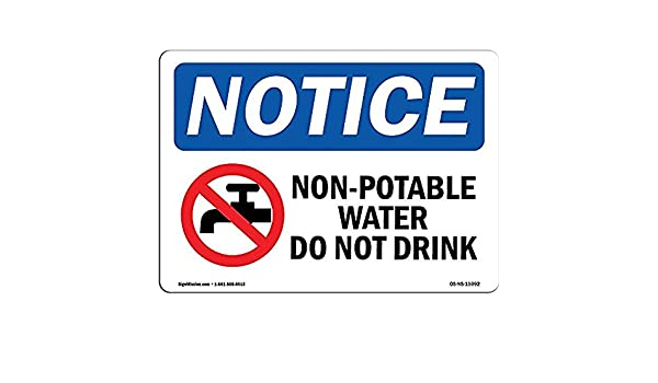 Herbert39Catharine OSHA Aviso señal de Agua no Potable no ...