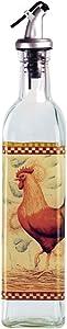 Grant Howard Rooster Glass Oil and Vinegar Cruet, 16 oz, Multicolor
