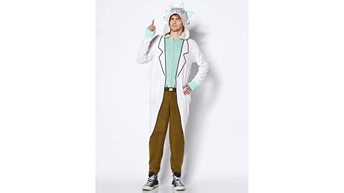 94c27f17e7dcc5 RICK AND MORTY - Rick One Piece Onesie Pajama Costume for Men and Women  (Medium