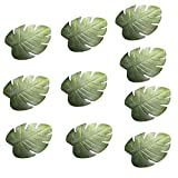 10/1pc Tropical Artificial Palm Leaves Coasters Cup Bowl Pad Mat Coffee Tea Cup Mats Drink Coasters Theme Party Decor (10pcs)