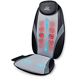Shiatsu Back Massager with Heat Kneading Massage Cushion Massage Chair Pad Relief Tension and Back Muscle Pain