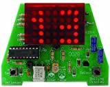 Rolling Clock Kit w/ 35 LED Display and Adjustable Speed - MK-123