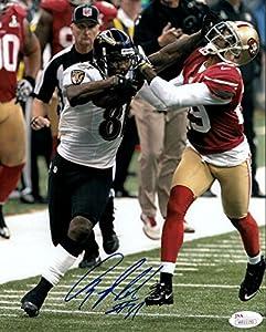 Anquan Boldin Autographed Baltimore Ravens SB XLVII 8x10 Photo