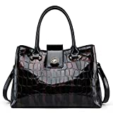 ZOOLER Crocodile Leather Handbags for Women Top Handle Satchel Purses Tote Bag