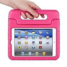 Apple iPad mini 4 Kids Case,Ocuya Kiddie Series Shockproof Case Light Weight Case With Handle for Apple iPad mini 4 (iPad mini 4, magenta)