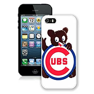 Chicago Cubs 1 White For iPhone 5S Case Genuine and Cool Design