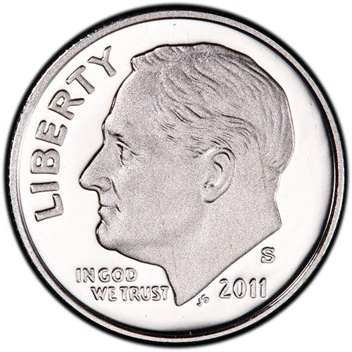 2010 S Silver Proof Roosevelt Dime Dime Choice Uncirculated US Mint ()