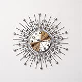 RFVBNM Classic european style home crystal drill iron mute wall clock living room bedroom creative 6060cm wall clock