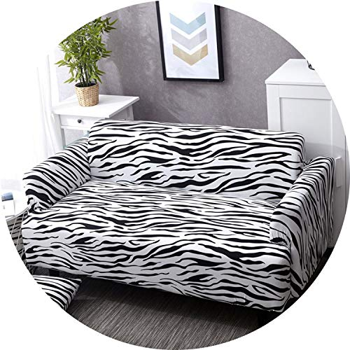 (Zebra Printed Sofa Cover Couch Cover Polyester Bench Covers Elastic Stretchy Furniture Slipcovers for Home Party Decoration,12,AB 190-230cm)