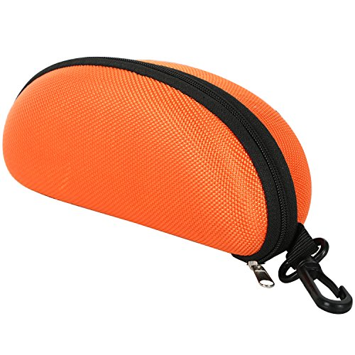 TRIXES Protective Moulded Sunglasses Case Orange Zipped for sale  Delivered anywhere in Canada