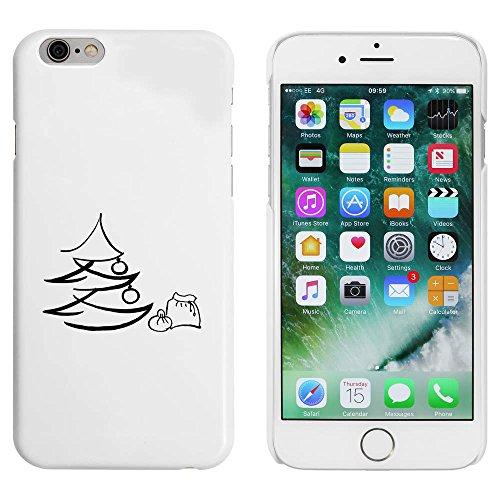 Blanc 'Arbre de Noël et Sac' étui / housse pour iPhone 6 & 6s (MC00009434)