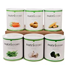 Premium Freeze Dried & Dehydrated Vegetable 6 pack by NutriStore – enjoyed by babies, toddlers, commuters & families for healthy tasty snacking – loved by preppers, campers & outdoorsmen for survival & emergency food.