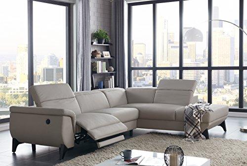Amazon.com: Moderno sofá seccional gris claro eléctrico ...