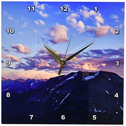 3dRose DPP_88947_1 Colorado, Rocky Mountain NP, Longs Peak - US06 RBR0022 - Rick A. Brown - Wall Clock, 10 by 10-Inch