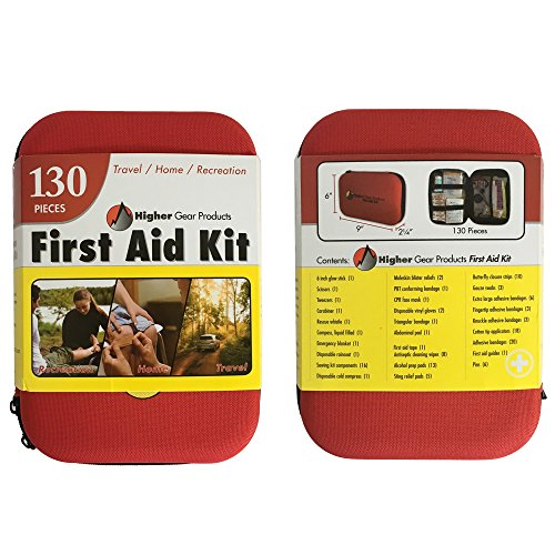 First Aid Kit for Car, SUV and Marine Use | Emergency Medical Kit for Home, Business, Travel, Hiking, Backpacking, Camping and Sports | 130 Pieces | Hard Shell Case | FDA Approved | + Bonus eBook by Higher Gear Products (Image #8)