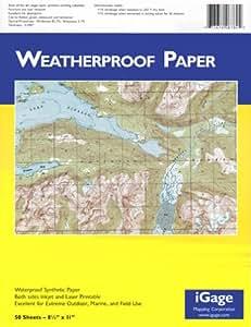 "iGage Weatherproof Paper 8.5""x11"" - 50 Sheets"