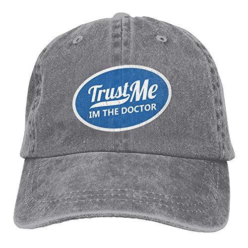 XKAWPC Trust Me Im The Doctor Fashion Denim Cap Adult Unisex Adjustable Cap ()