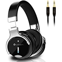 Willnorn Active Noise Cancelling Wireless Bluetooth Over-Ear Headphones with Stereo Sound, 30 Hours Playtime, Built-in Microphone, NFC, Durable High Definition Audio Cable, Carrying Bag Included