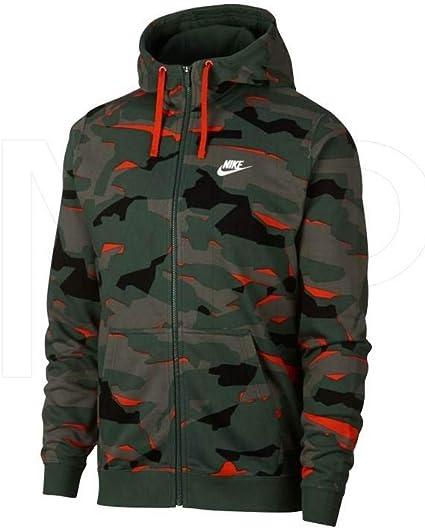Nike M NSW Club Camo Hoodie Fz Ft Sweatshirt Homme