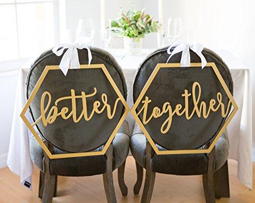 Hexagon Wedding Chair Signs Geometric