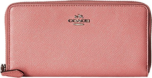 COACH Women's Metallic Accordion Zip Wallet Sv/Glitter Rose Wallets by Coach