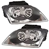 2004-2005-2006 Chrysler Pacifica (Built After 6/9/03 Production Date) Headlight Headlamp Composite Front Halogen Quad Head Light Lamp Pair Set Left Driver AND Right Passenger Side (04 05 06)