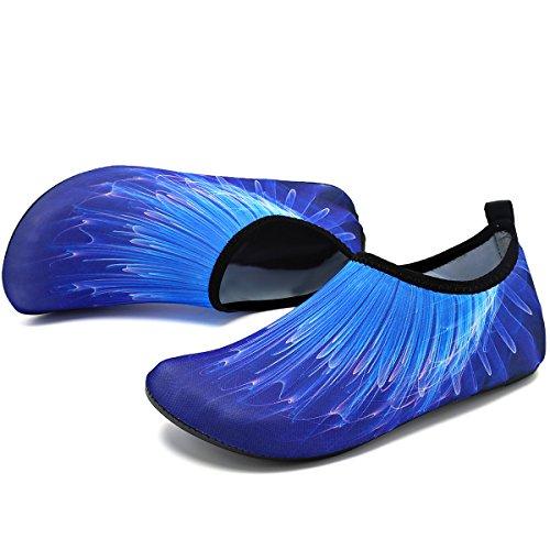 Blue Women Yoga Sports Aqua VIFUUR Quick for on Slip Barefoot Dry 3d Shoes Men beam Kids Socks Water qqUwBO