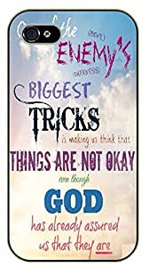 "iPhone 6 (4.7"") Bible Verse - One of the enemy's biggest tricks is making us think that are not okay. Devil - black plastic case / Verses, Inspirational and Motivational"