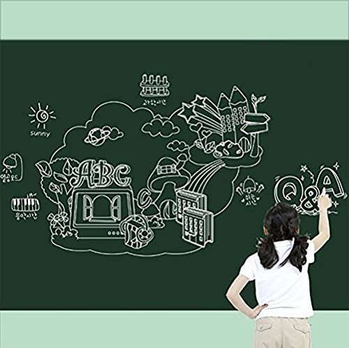 ITTA X-Large 24'' x 79'' Vinyl Chalkboard Wall Sticker Contact Paper Blackboard Memo Removable Wall Sticker Home Decal Wall Mural (green) by ITTA