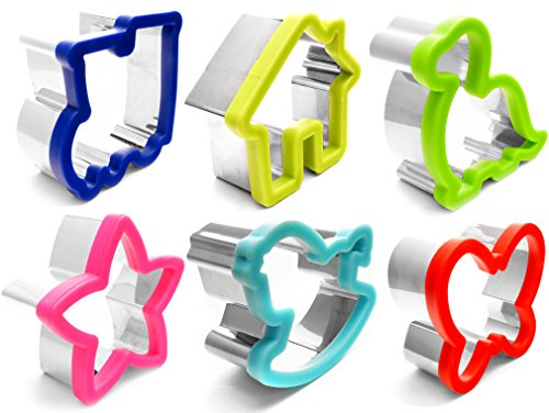 Budigus   Multi-Purpose Children's Cookie Cutter   Sandwich, Bread, Biscuit Cutter   Adorable Shapes For Use With Kids!   Durable Stainless Steel   Large 9 Piece Set