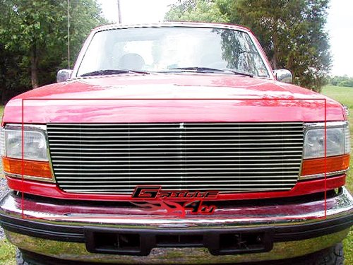APS F85007A Polished Aluminum Billet Grille Replacement for select Ford Bronco Models