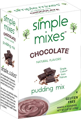 Simple Mixes Pudding Mix, Chocolate, 6 Count (Pack of (Almond Pudding)