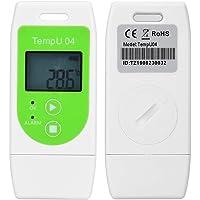 Focket Registrador de Datos de Temperatura, PDF USB 12000 Puntos LCD Reutilizable IP65 Termómetro Prueba Agua…