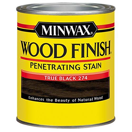 - Minwax Wood Finish 227644444, 1/2 Pint, True Black