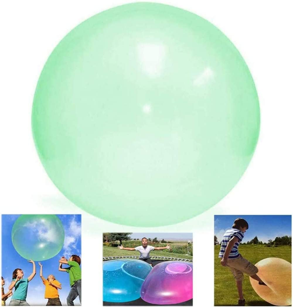 KRY Inflatable Bubble Ball,TPR Bubble Ball Balloons Tear-Resistant Balloons Stretch Firm Ball,Beach Garden Ball Soft Rubber Ball for Kids Outdoor Party