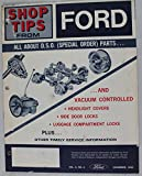 Shop Tips From Ford, Vol. 5, No. 4, December 1966, All About D.S.O (Special Order) Parts.. and Vacuum controlled Headlight Covers, Side Door Locks, Luggage Compartment Locks