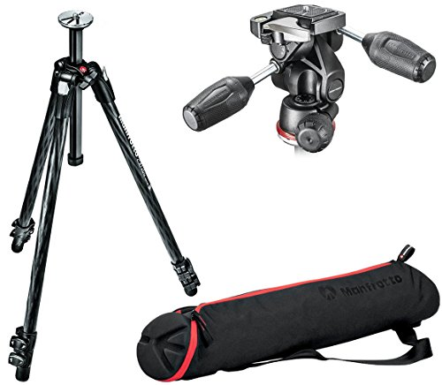 Manfrotto mt290 X tc3 290 Xtraカーボンファイバー3セクション三脚キットwith mh804   3 WUS 3 Way Head with mbag70 Nパッド無し三脚バッグ
