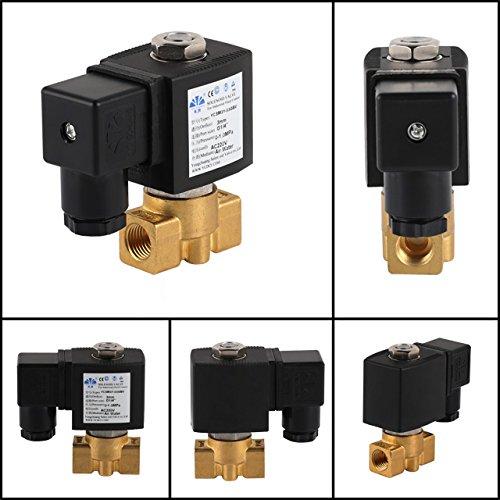 Speed Elettrovalvola solenoide in ottone da 1//8 fino a 1 pollice olio servoassistita per acqua gas