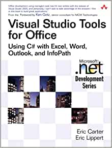 Visual studio tools for office using c with excel word outlook and infopath eric carter - Visual studio tools for office ...