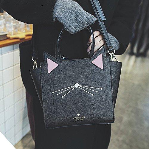 New Female High Bag Fashion High Capacity Cute Cat Handbags Print Shoulder Gwqgz Type Bag Wings Women Quality Pu Leather Cartoon Z1dgRZxnwq