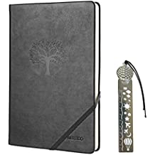 CLEARANCE SALE !! Journal Notebook,WERTIOO Leather Diary Hardcover Classic Writing notebook A5 Dotted Pages Thick Paper Business Gift for Men Women(Black)