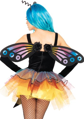 Leg Avenue Strapless Butterfly Wings Costume Accessory, Black, One Size