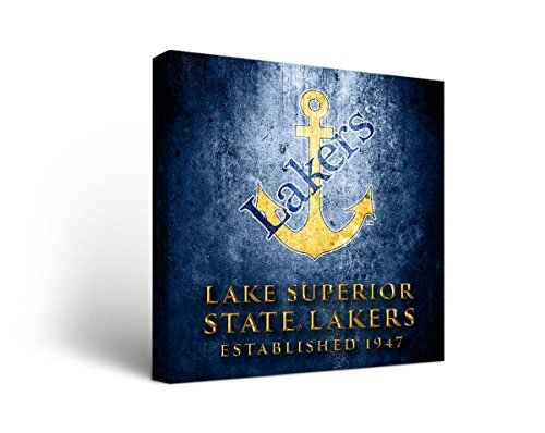 Victory Tailgate Lake Superior State University Lakers Canvas Wall Art Museum Design (24x24) by Victory Tailgate