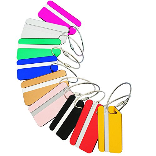 ZoCr 9pcs Travel Luggage Tags, Bag Tag Travel ID Labels Tag For Baggage Suitcases Bags (Square) (Square Luggage Tag)