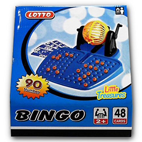 Cage Deluxe Bingo Game (Bingo Game an Educational 90 Number Bingo Set Lottery Party Game Red (2 to 48 players ? Ages 6 +))