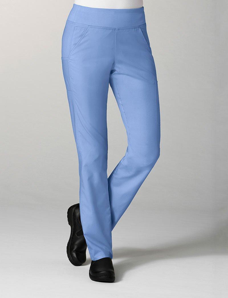 (メイヴン) Maevn レディース Eon Pure ヨガスタイル スクラブパンツ 7つのポケット付き B01LWAGHQ3 S ブルー(Ceil Blue) ブルー(Ceil Blue) S