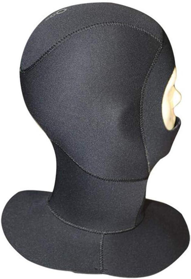 LAIABOR Tauchhaube verstellbar 3mm wasserdichte warme Ohrensch/ützer Tauchm/ütze Tauchm/ütze Kajak Fahren Kanu Atemschlauch kalt